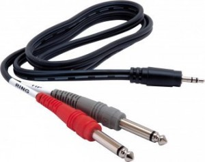 "3.5mm Stereo Male to Dual 1/4"" Mono Male Cable"