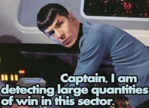 Spock detects win